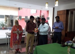 Engineering faculty receiving award from Director sir.